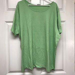 Sara Morgan Light Green Short Sleeve Top